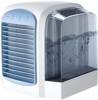 WQY Refrigerador De Aire USB Mini Ventilador De Aire Acondicionado Silencioso Portátil Ventilador De Enfriamiento De Agua Humidificador De Aire Evaporativo Silencioso para Habitación,Azul