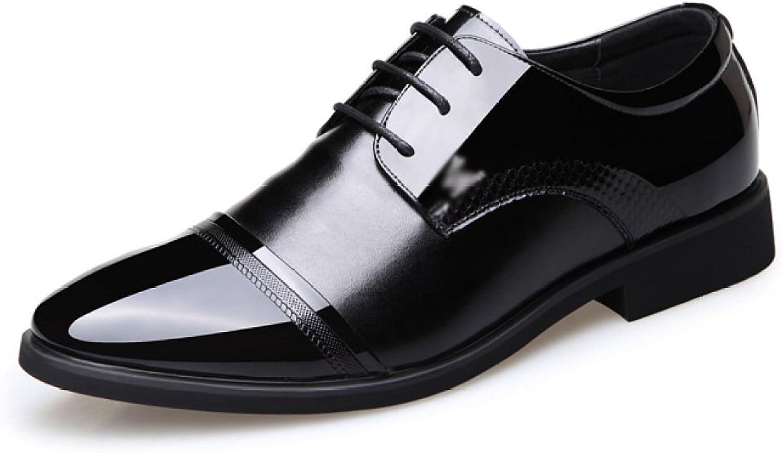 Herren Business Schuhe Spitz Lackleder Lace up Derby Oxford Kleid Hochzeit Büro Schuhe