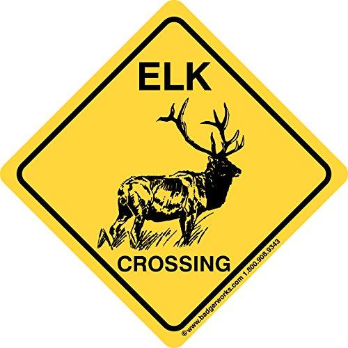 Badgerworks Signs & Designs ELK Crossing Sign