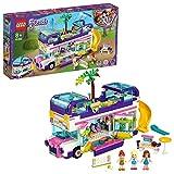 LEGO 41395 Friends Freundschaftsbus Set, Puppenhaus - Bus mit 3 Mini Puppen, Spielzeug ab 8 Jahren für Mädchen und Jungen - LEGO