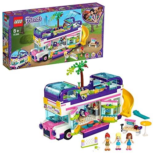 LEGO 41395 Friends Freundschaftsbus Set, Puppenhaus - Bus mit 3 Mini Puppen, Spielzeug ab 8 Jahren für Mädchen und Jungen