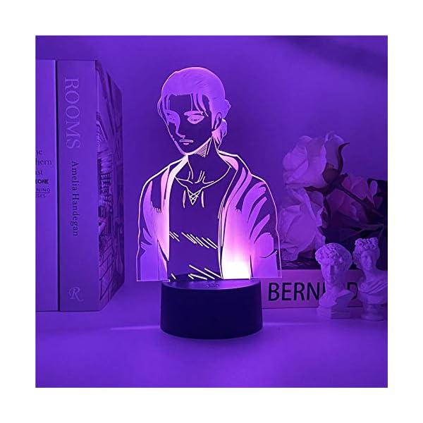 Yeager 2021 NEW 3D luce notturna in titanio per camera da letto dei bambini, decorazione della luce, tavolo di cambiamento, lampada da notte con attacco al titanio regalo ZGLQ 2 spesavip