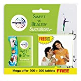 Sweet n Healthy Sugar Substitute Sucralose Tablets by Wipro, 300 Tablets