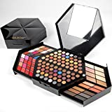 Professional Eyeshadow Palette Nibito 80 Colors Matte Shimmer Deformation Powder Box Highlighter Blush Powder Light and Soft -Highly Pigmented -Waterproof Pop Color Eye Shadow Palette