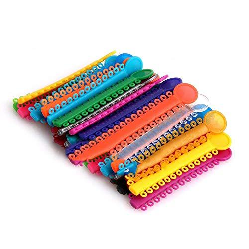 CviAn-NEW 40 piezas corbatas de ligadura de ortodoncia juntas tóricas elastoméricas de ortodoncia multicolores bandas de goma