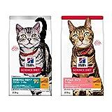【セット買い】ヒルズのサイエンス・ダイエット キャットフード インドアキャット 室内飼い猫用 アダルト 1歳以上 成猫用 チキン 2.8kg & キャットフード ライト 肥満傾向の成猫用 体重ケア チキン 2.8kg