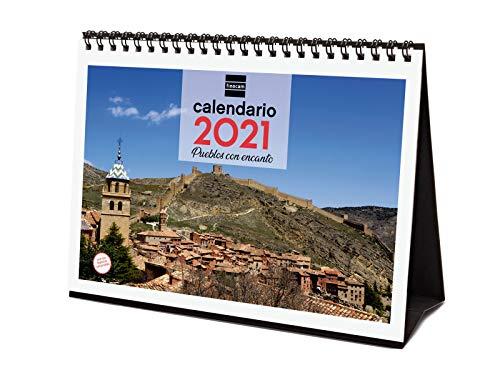 Finocam - Calendario de sobremesa 2021 Escribir Imágenes Pueblos con encanto Español