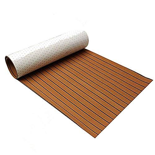 Bodenbelag aus EVA-Schaum, 600 x 2400 x 5 mm, Braun/Schwarz