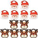 Caja Dulces Navideños YUESEN Cajas Regalo Navidad Portátiles Papel Kraft Manzanas Recipientes Embalaje Decorativas Cajas de Dulces, Pasteles, Galletas(12pcs)