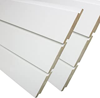 Primed Pine Nickel Gap Ship Lap Board (6-Pieces Per Box) 3/4 in. x 7-1/4 in. x 8 ft.