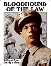 Unoopler Andy Griffith Show Tin Metal Sign : Barney Fife Bloodhound 12X16