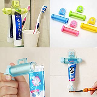 2pcs White Rolling Toothpaste Squeezer Toothpaste Tube Sucker Dispenser // 2pcs blanco pasta de dientes
