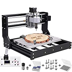 3018 Pro CNC Milling Machine Laser Engraving Machine, TOPQSC GRBL Control Router DIY Kit 3 Shafts Plastic Acrylic PVC Wood Carving 300x180x45mm With Offline Controller