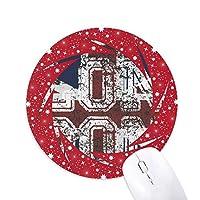 ロンドン、イングランド、英国のユニオンジャック旗マークイラストパターン 円形滑りゴムの赤のホイールパッド