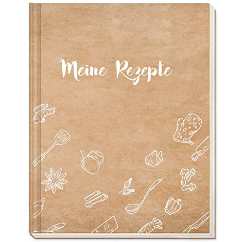 Rezeptbuch zum Selberschreiben im praktischen A5 Format - Praktisch mit Register und Hardcover - Ideal auch als Geschenk - von Sophies Kartenwelt