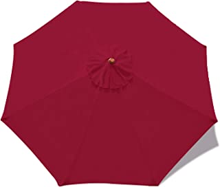 ABCCANOPY 10ft Outdoor Umbrella Replacement Top Patio Umbrella Market Umbrella Replacement Canopy with 8 Ribs(Burgundy)