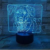 ナイトライトLed3DLedかわいいラブラドール犬ナイトライト赤ちゃん動物ライト家の装飾のためのテーブルランプ子供のためのクリスマスプロモーションギフト子供