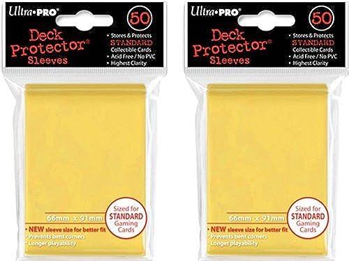 ventas al por mayor (100x) Ultra PRO amarillo Deck Projoectors Projoectors Projoectors Sleeves Standard MTG Colors by Ultra Pro  el mejor servicio post-venta