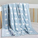 Kid Nation Baby Blanket, Cozy Throw Blankets for Newborn Infant and Toddler, Super Soft and Warm Receiving Baby Blanket for Crib Stroller, 30 x 40 in, Baby Blue