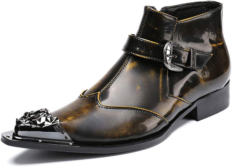 BJHH Britische Wind-Martin-Stiefel, Spitze Leder-SchnüRstiefel FüR Herren, Business-Casual-Retro-Stiefel Business-Casual-Retro-Stiefel Mit Trend-Schuhen 37-46,Gelb,EU40 UK6.5  verkaufen sich wie warme Semmeln