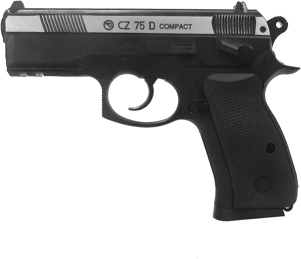 ASG CZ 75D Compact .177 Caliber Steel BB Gun Non-Blowback Air Pistol, Two-Tone : Sports & Outdoors