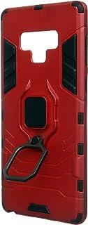 جراب خلفى مع حلقة حامل سيارة مغناطيسية من ايرونمان للهاتف الخلوى سامسونج جالاكسي نوت 9 - احمر
