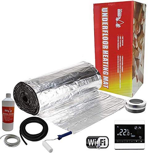 Nassboards Premium Pro Set Voor Elektrische Vloerverwarming Aluminium 150 W per m2 - Witte Draadloze Wifi-Thermostaat - 4m2