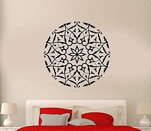 Arte de pared pegatina vinilo pared calcomanía Mandala meditación Zen Yoga budista práctica de Yoga aprendizaje arte habitación Mural 70x70cm