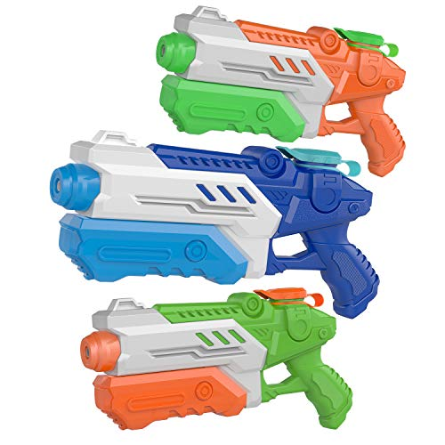 YouCute 3 Packs Water Guns for Kids Adults Summer Super Fighting Soaker Blaster Swimming Pool Beach Sand Outdoor Play Squirt Water Toys Party Favors
