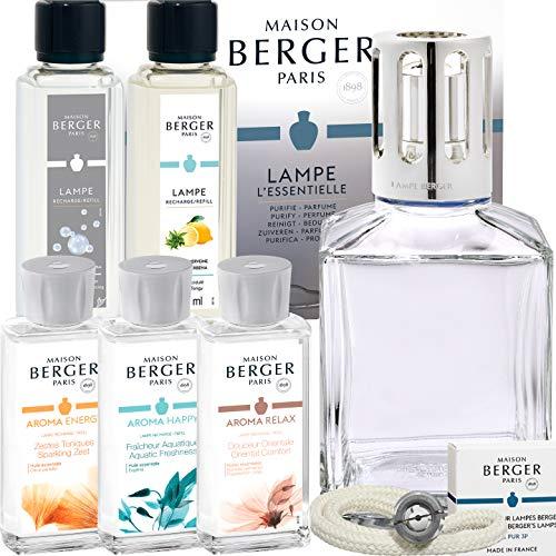 Lampe Berger Paris Geschenkset XXL Cube inkl. 5x Duft Limited Aroma Edition