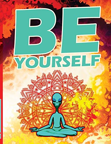 Be Yourself: Personality Development Motivational Quote Lined Notebook. Meditation Yoga Lotus Postur