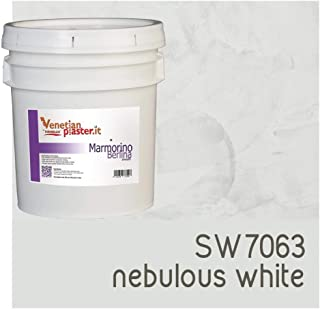 FirmoLux Marmorino Berlina Venetian Plaster | Smooth Plaster | Made in Italy from Lime, Marble & Other Natural Aggregates | Medium Tone Colors (14) | Colors: SW7063 Nebulous White