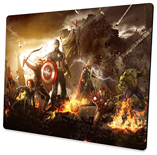 Design Professional Custom Avengers Mouse Pad, Non-Slip Rubber Large Gaming Mouse Pad, Suitable for Laptop, Office Computer and Home Mouse Pad