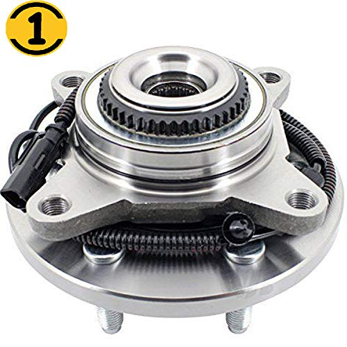 (4WD) Front Wheel Bearing Hub Assembly Fit 2011-2014 Ford F-150, 2011-2014 Ford Expedition,2011-2014 Lincoln Navigator Hub Bearing 6 Lugs w/ABS, 4x4, Replace 515142