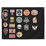 Excellent Elite Spanker Tactical Patchs Display Board Foldable Military Patch Holder Panel(Black-S)