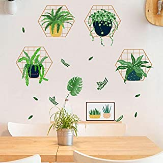 Holly LifePro Green Tropical Leaves Wall Decals Peel and Stick Tree Leaf Plants Wall Sticker for Home Bedroom Nursery Room...