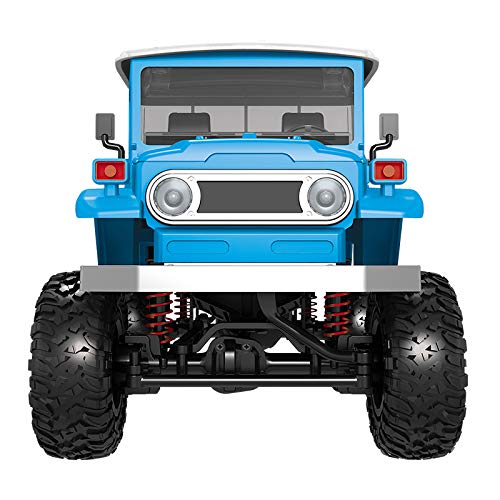 BONJIU RC Military Truck Off-Road Military Rock Crawler Truck Remote Control Toy RTR Car Vehicle 4WD RC Car with Front LED Light for Kids Boys Adults