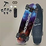 VOMI Hignful Monopatín Pro Completo Skateboard Carver Surfskate 27 Pulgadas Tabla Corta Tabla De Surf 7 Pisos Adecuado for Montar Al Aire Libre Cojinete De Carga 440 Lbs for Principiantes Niños,b