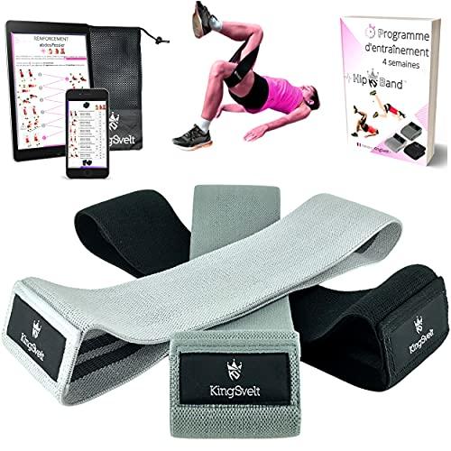 KingSvelt® Bande Elastique Fitness en Tissu [Lot de...