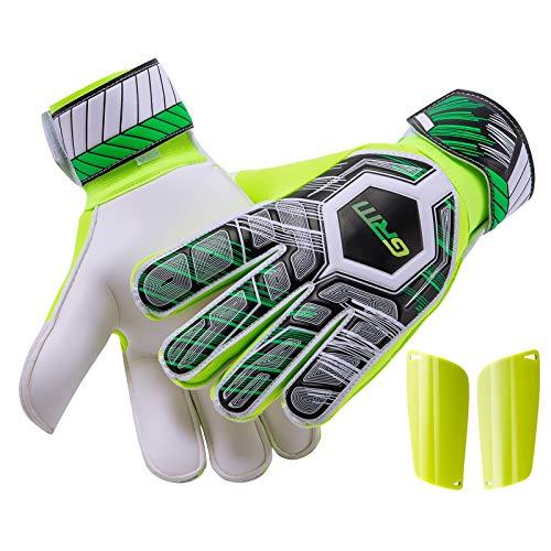 GRM Goalie Gloves Youth, Goalkeeper Gloves with Finger...