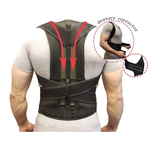 Back Support Belts Posture Corrector Back Brace Improves Posture and Provides For Lower and Upper Back Pain Men and Women (XL)