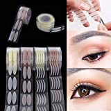 Baost 600Pcs/Roll Invisible One-sided Sticky Double Eyelid Tapes Stickers Strips, Wide/Narrow Makeup Double Eyelid Tape Sweatproof Sticker Instant Eye Lift Strip for Makeup Transparent 2