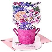 Hallmark Paper Wonder Mothers Day Pop Up Card (Purple Flower Bouquet, Beautiful in Every Way) (699MBC1117)