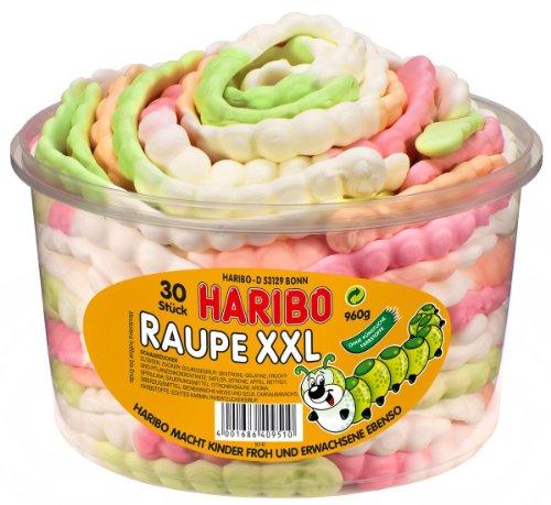 Haribo Raupe XXL Dose, 30 Stück, 960g