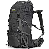 Loowoko Hiking Backpack 50L Travel Daypack Waterproof with Rain Cover...