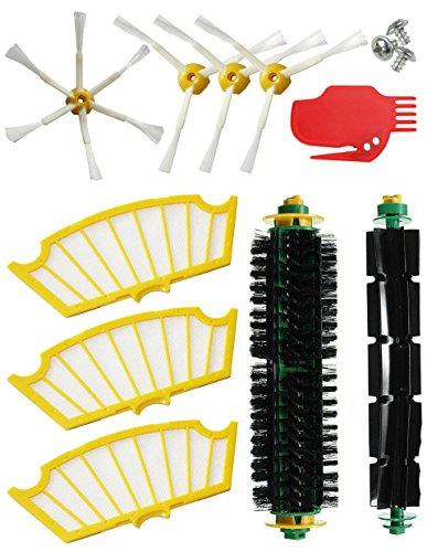 MIRTUX - kit di ricambi per Roomba serie 505 521 510 530 535 545 550 552 555 560 562 564 570 570 571 575 580 581 585. 10 pezzi di spazzole e filtri, compatibili con iRobot. Ricambi e accessori.