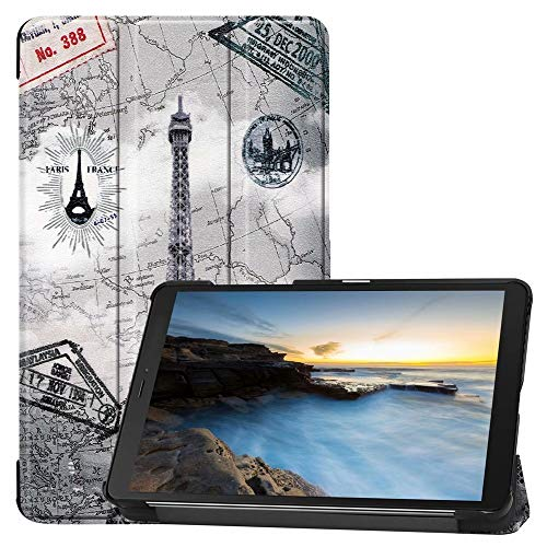 Tanxinxing For Sumsung Galaxy Tab A 8.0 2019 SM-T290/T295/T297 Tablet Case,Flip Stand Cover Shockproof Protective Shell Premium PU Leather Case (PATTERN : 3)
