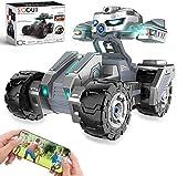 Voiture télécommandée avec caméra HD 720P, HBUDS 4WD WiFi FPV voitures RC haute vitesse avec lumières, camions RC en mode AR 1:18 voiture avec batterie rechargeable pour enfants et adultes