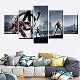 KWzEQ Película Anime Hero Poster Familia decoración de la Pared Lienzo 5 Piezas Sala de Estar Mural HD impresión,Pintura sin Marco,20x35cmx2, 20x45cmx2, 20x55cmx1