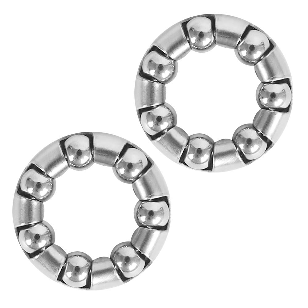 2 x Replacement Parts for Front Wheel Axle 3/16 inch x 7 Balls Bearings for Baby Trend Expedition, Navigator Stroller, Stretch Bicycle, Bike